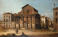 Canaletto (Venice 1697-Venice 1768) - The Temple of Antoninus and Faustina, Rome - RCIN 409046 - Royal Collection.jpg