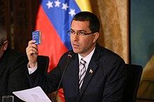 Venezuelan Foreign Minister Jorge Arreaza, From WikimediaPhotos