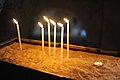 Candles on the Golgotha. Church of the Holy Sepulchre, Jerusalem 018 - Aug 2011.jpg