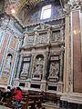 Cappella paolina o borghese, monum di paolo V del ponzio con cariatidi di pietro bernini 01.JPG