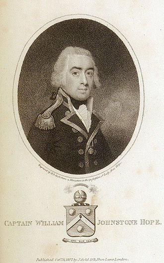 William Johnstone Hope - Captain William Johnstone Hope, an 1807 engraving by H. R. Cook