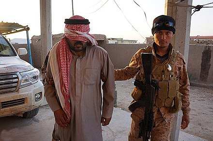 An ISIL fighter captured by Iraqi Security Forces near Tikrit, 2015 Captured ISIL fighter in Saladin Governorate (4).jpg
