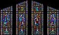 Carl Huneke's stained glass window - The Joyful Mysteries at St. Joseph of Cupertino Church, Cupertino, CA.jpg