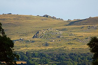 Carn Menyn - Carn Menyn on the skyline, viewed from the north