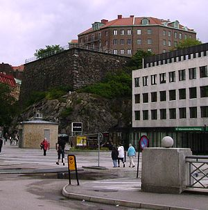 Fortifications of Gothenburg - The Carolus Rex bastion (also referred to as Hållgårdsbastionen) at Rosenlund, Gothenburg.
