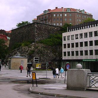 Fortifications of Gothenburg - The Carolus Rex bastion (also referred to as Hållgårdsbastionen) at Rosenlund, Gothenburg.