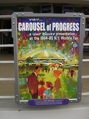 Walt Disney's Carousel of Progress - Poster of the Carousel of Progress from the 1964 New York World's Fair