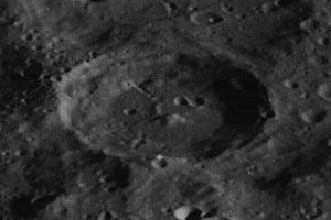 Carver (crater) - Oblique view from Lunar Orbiter 3, facing south