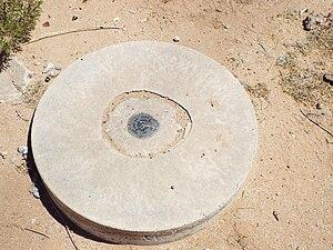Corona Satellite Calibration Targets - Image: Casa Grande Corona Satellite Calibration Target Montgomery Cornman survey mark 1