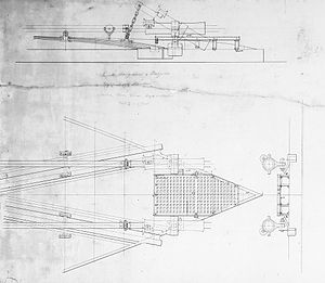 The plans for the torpedo mechanism on the modified Casco-Class monitors.