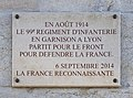 Caserne sergent Blandan - plaque 1914.jpg