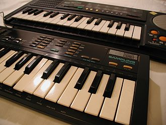 Casio SK-1 - Casio SK-1 (fore) with the Realistic Rap-Master (rear).