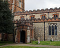 Castle Hedingham, St Nicholas' Church, Essex England, south porch.jpg