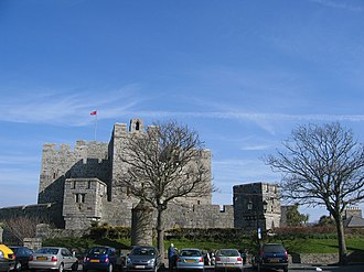 Castle Rushen - Castle Rushen seen from Castletown's market square.
