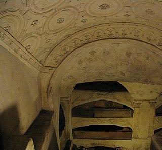 Catacombs of San Sebastiano building in Rome, Italy