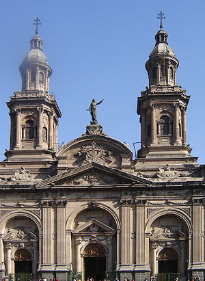 Santiago Metropolitan Cathedral - The Metropolitan Cathedral of Santiago, located in the city's Plaza de Armas.