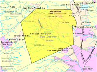 Jackson Township, New Jersey - Image: Census Bureau map of Jackson Township, New Jersey