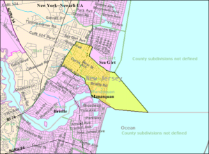 Manasquan, New Jersey - Image: Census Bureau map of Manasquan, New Jersey