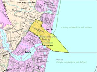Manasquan, New Jersey - Image: Census Bureau map of Manasquan, New Jersey