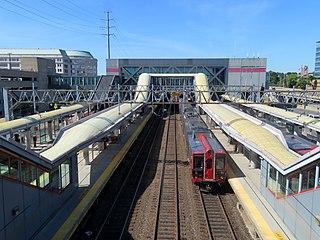 Stamford Transportation Center Rail station in Stamford, Connecticut, United States