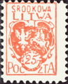 Central Lithuania 1920 MiNr 001A B002.png