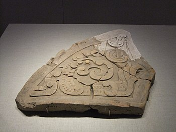 Ceramic mold of phoenix pattern, Spring and Autumn period, Shanxi Museum.jpg
