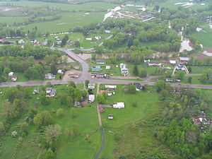 Genesee, New York - Ceres, Pennsylvania (top), south of Oswayo Creek, Ceres, New York (bottom) north of the creek