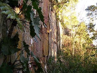 "Cerro Cora National Park - Cerro Muralla or ""Wall Hill"" is a hill in Amambay on Cerro Cora national park that resembles a wall, 2008"