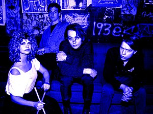 Danceteria -  post-punk band Certain General backstage at Danceteria in 1983