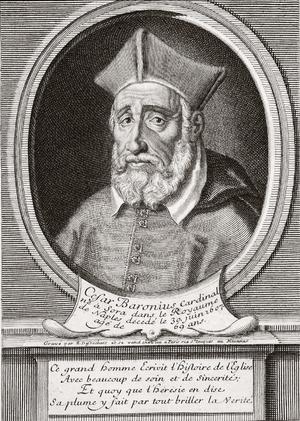 Annales Ecclesiastici - Cesare Baronius, 17th-century engraving.