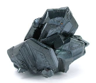 Chalcocite - Chalcocite crystals from the Mammoth Mine, Mount Isa - Cloncurry area, Queensland, Australia (size: 3.0 x 2.9 x 2.4 cm)