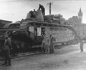 Char 2C - Champagne after capture by German forces in eastern France, June 1940