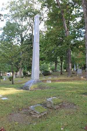 Charles Cooley - Cooley grave in front of Cooley family obelisk, Forest Hill Cemetery, Ann Arbor