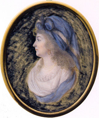 Louis Antoine, Duke of Enghien - Charlotte Louise de Rohan, Louis Antoine's secret wife; miniature by François-Joseph Desvernois