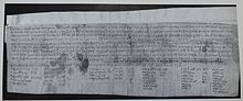 Charter S 344 (Stowe 19) by Archbishop Æthelred in association with King Alfred 973 .jpg
