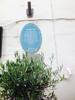 Photo of John Frost, William Jones, and Zephaniah Williams blue plaque