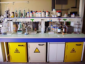 Laboratory - A workbench in a chemistry laboratory