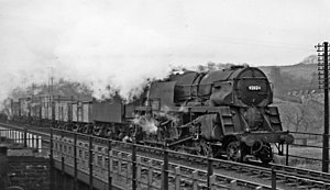 BR Standard Class 9F - Right hand view of a Crosti BR Standard 9F 2-10-0, No. 92024, showing the unique layout