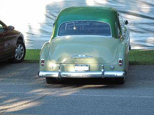 Chevrolet Deluxe - 1951 Chevrolet Deluxe coupe (rear)