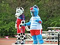 Chicago, Fire and Red Stars mascots, Sparky and Supernova.JPG