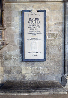 Ralph de Luffa 11th and 12th-century Bishop of Chichester