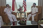 Chief of Naval Operations Adm. John Richardson meets with Indonesian Chief of Navy Adm. Ade Supandi, during India's International Fleet Review (IFR) 2016.JPG