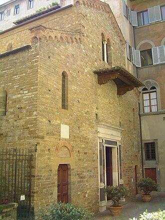 Santi Apostoli, Florence - The unfinished façade of Santi Apostoli