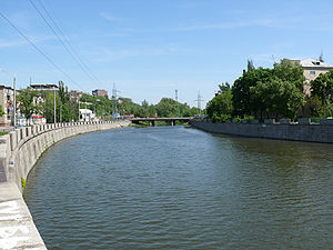Kharkiv River - Kharkiv River in the center of Kharkiv