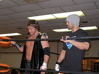 Chris Sabin - Sabin (left) and Sonjay Dutt (right) at a Chikara event in 2007