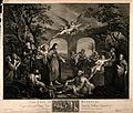 Christ cures the paralytic at the therapeutic pool of Bethes Wellcome V0014669.jpg