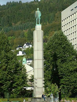 Christian Michelsen - Memorial to Christian Michelsen. Bergen, Norway