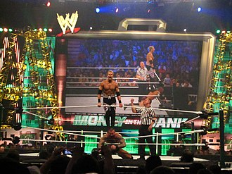 Glossary of professional wrestling terms - Image: Christian v Orton at MITB 2011