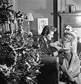 Christmas Party For Trooper Devereux's Daughter- Christmas in Wartime, Pinner, Middlesex, December 1944 D23011.jpg