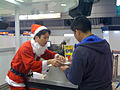 Christmas at the Tokyo airport check-in counter (4377622497).jpg